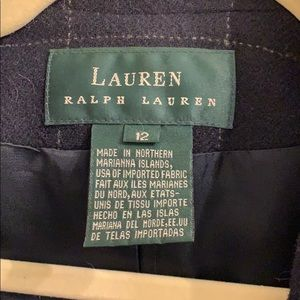 Ralph Lauren Jackets & Coats - Ralph Lauren navy plaid wool blazer jacket